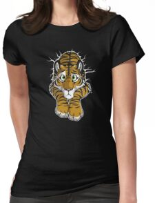 STUCK - Brown Tiger Womens Fitted T-Shirt