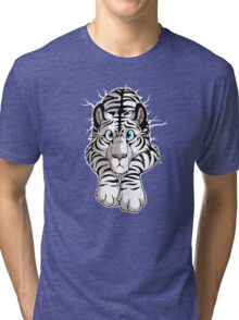 STUCK - White Tiger Tri-blend T-Shirt