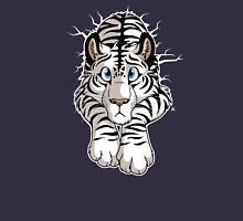 STUCK - White Tiger Womens Fitted T-Shirt