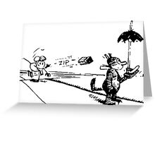 Krazy Kat Cartoon Greeting Card