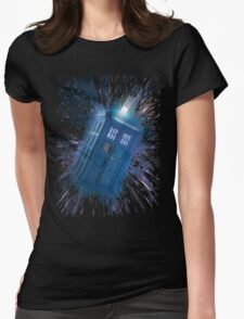 The Doctor's Radiating Tardis Womens Fitted T-Shirt