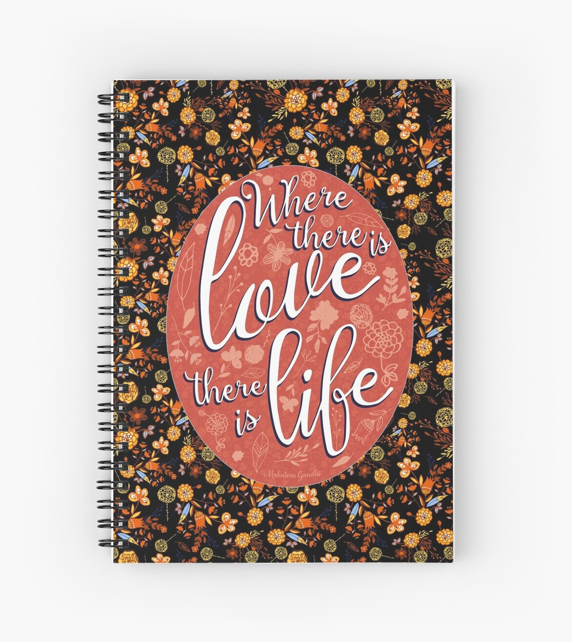 Where there is Love spiral notebook