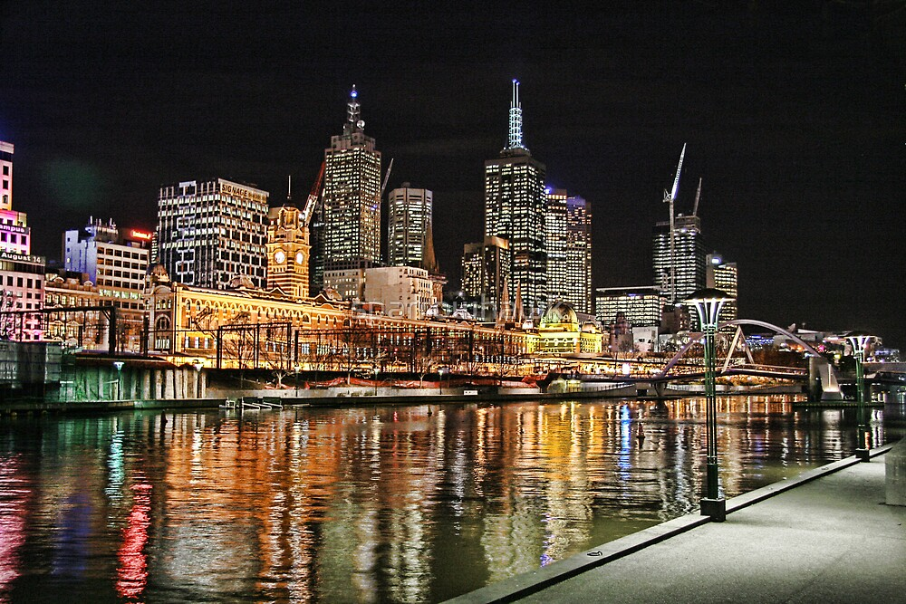 Melbourne Series - Skyline by sparrowhawk