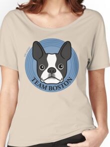 Team Boston - Terrier Puppy Dog  Women's Relaxed Fit T-Shirt