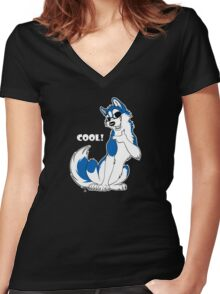 COOL - Husky Blue Women's Fitted V-Neck T-Shirt