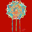 Orient Red Mandala by © Karin Taylor
