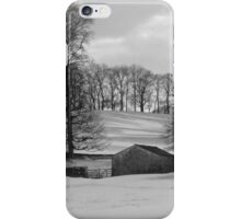 Snowy Yorkshire Dales Scene iPhone Case/Skin