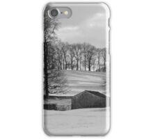 Snowy Yorkshire Dales Scene iPhone Case/Skin