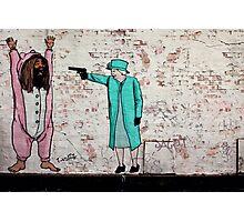 Royal Shootout Street Art London Urban Wall Graffiti Artist Prolifik Photographic Print