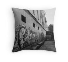 'bullet holes in the car park' Throw Pillow