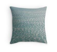 Calm Cornish sea Throw Pillow