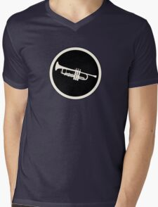 Trumpet Sign Mens V-Neck T-Shirt