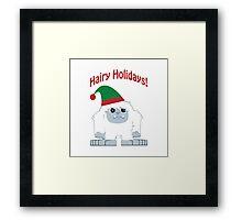 Hairy Holidays! Yeti Framed Print