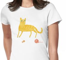 Nice Ginger Cat Womens Fitted T-Shirt