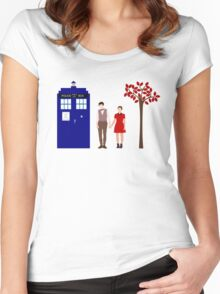 Clara and the 11th Doctor Women's Fitted Scoop T-Shirt