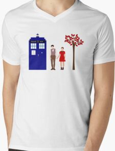 Clara and the 11th Doctor Mens V-Neck T-Shirt