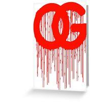 OG Drips 3 Greeting Card