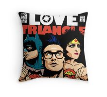 Butcher Billy's Bizarre Love Triangle: The Post-Punk Edition Throw Pillow