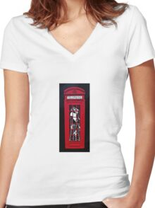 Monkey business!! Women's Fitted V-Neck T-Shirt