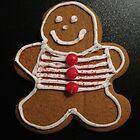 Gingerbread Cookie Christmas Card by Pamela Burger
