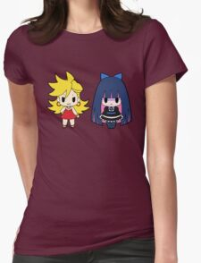 Panty and Stocking Chibis Womens Fitted T-Shirt