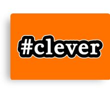 Clever - Hashtag - Black & White Canvas Print