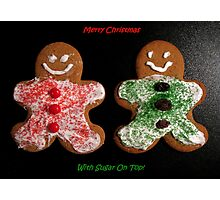 Gingerbread Cookies Christmas Card Photographic Print