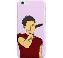 Zayn Malik Microphone Cartoon (Purple) iPhone Case/Skin