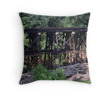 Abandoned Trestle Throw Pillow
