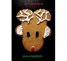 Rudolph Santa's Favorite Christmas Card Photographic Print