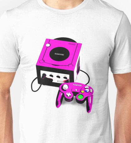 Magenta Game Cube Unisex T-Shirt