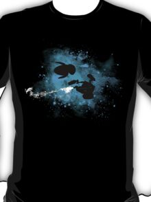 Floating in space - robots in love - Wall.e and Eve T-Shirt