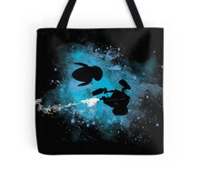 Floating in space - robots in love - Wall.e and Eve Tote Bag