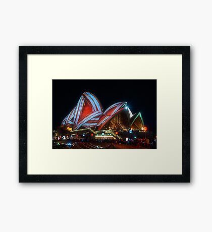 Wrap up the sails if the Opera! Framed Print