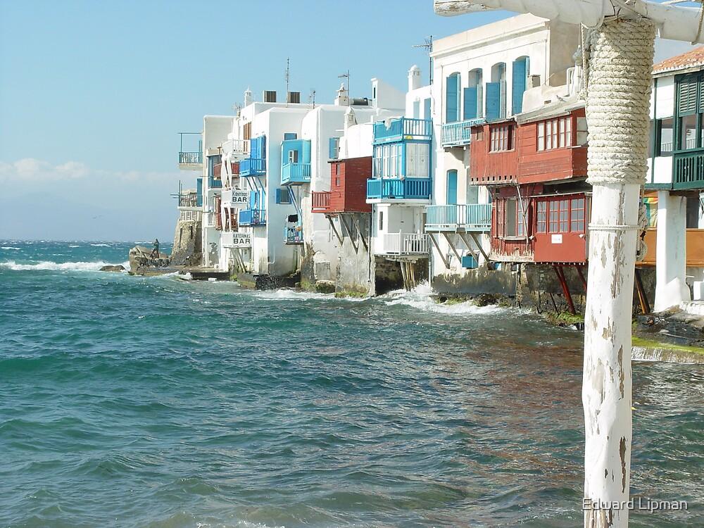Little Venice on Mykonos, Greece by Edward Lipman