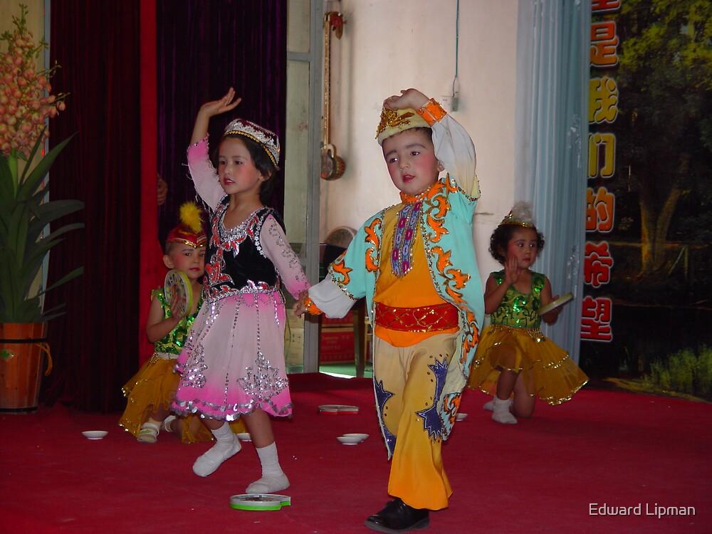 Schoolchildren on the Silk Road , China by Edward Lipman