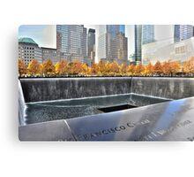 Ground Zero Water Fountain 911 Memorial...NYC Canvas Print
