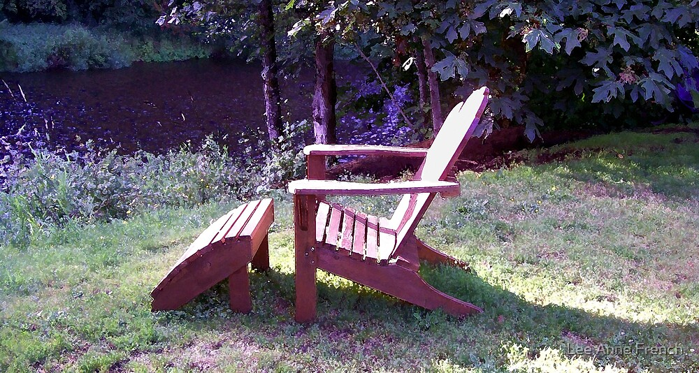 My Chair by the River by Lee Anne French