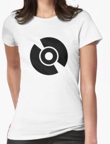 Disc vinyl Womens Fitted T-Shirt
