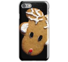 "Gingerbread Reindeer ""From Both"" Christmas Card iPhone Case/Skin"