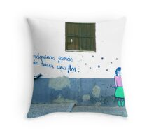 Spanish Street Art Throw Pillow