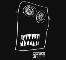 Monsters By Gusten #1 WHITE Kids Tee