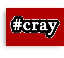 Cray - Hashtag - Black & White Canvas Print