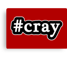 Cray - Hashtag - Black & White Canvas Print