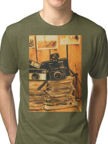 Vintage photography stack Tri-blend T-Shirt