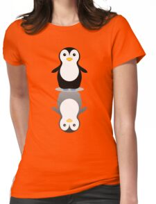 LONELY PENGUIN REFLECTING Womens Fitted T-Shirt