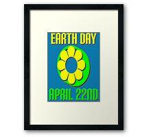 EARTH DAY-GREEN Framed Print