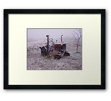 Frozen Tractor Framed Print