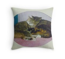 Baby Bunny and Mother Mandi Throw Pillow