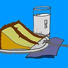 Birthday Cake and a Glass of Milk 1 by Pamela Burger